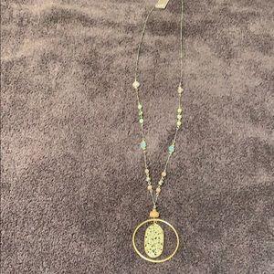 JJill Dalmatian stone pendant necklace